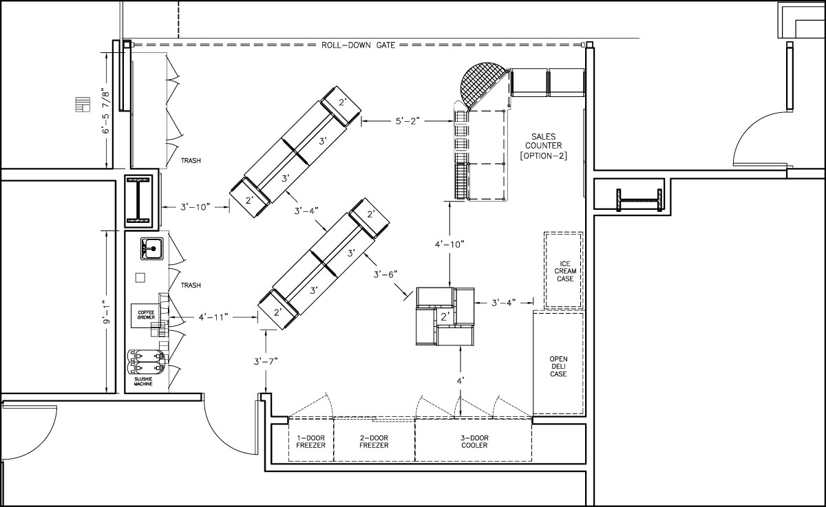 500 - 1000 sqft layouts