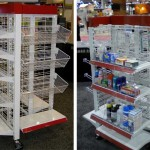 4 Way Wire Grid Shelving Gondola Racks