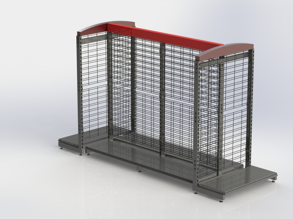 Wire Grid Gondola Shelving Shopco U S A Inc