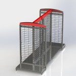 Wire Gondola with Two End Caps