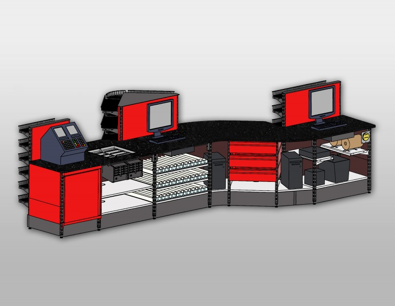 4D Upright Sales Counter SHOPCO USA Inc