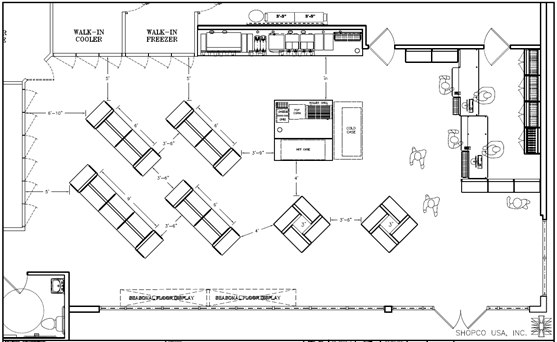 Convenience Store Floor Plans Layouts Shopco U S A Inc