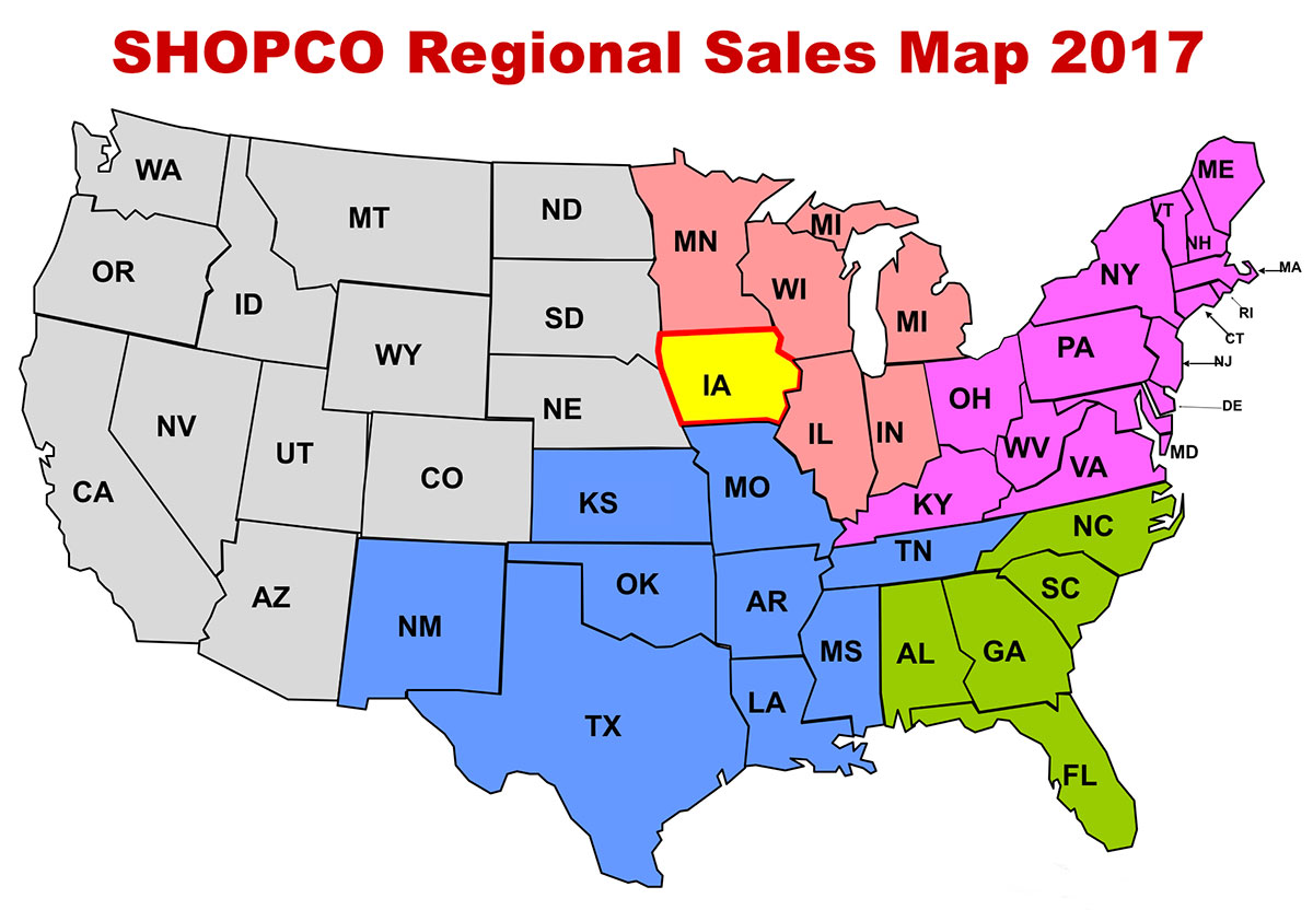Shopco Sales Map 2017